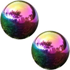 Rainbow Gazing Globe Mirror Ball Home Shiny Stainless Steel Gazing Balls Gardens