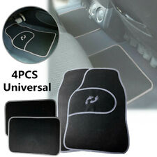 4PCS PVC Black + Gray Car Front Rear Mat Carpet Non-slipfloor Mats Grip Feet Pat