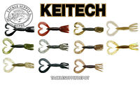 KEITECH 3.5 Little Spider Grub Twin Tail Grub 3.5 inch 5pk NEW COLORS - Pick