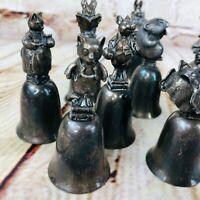 Vintage Collectible Animal Topper Bells Beatrix Potter Peter Rabbit Jamima Duck