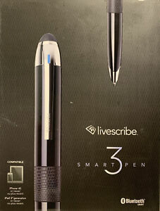 Livescribe 3 Smartpen Black Smart Pen (New in Box)