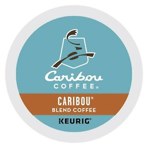 Caribou Blend Coffee 24 to 144 Keurig K cup Pods Pick Any Size FREE SHIPPING
