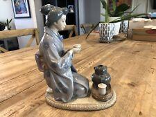 Lladro 5122 August Moon Japanese Tea Ceremony Figurine Beautiful