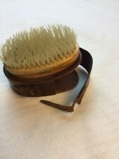 Vintage Rooneys Nylon Bristle Brush With Leather Case Rooney Collectible Shaving