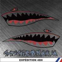 requin gueule dent shark - Stickers autocollants adhésifs