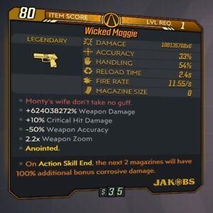 Borderlands 3 [MODDED Maggie Pistol] LVL 1 • 600 mil damage! [All Platforms] BL3