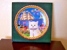 Anna Perenna -1977 Uncle Tad'S Holiday Cats Series Collector'S Plate -Coa-#1998