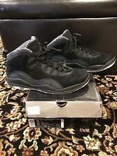 AIR JORDAN RETRO 10 STEALTH black & white suede size 10.5 Pre Owned 310805003