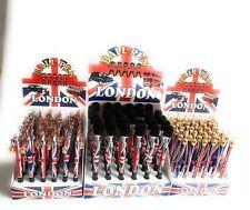 Union Jack pluma Escuela recuerdo Londres Gran Bretaña 36pc bola punto agradable de estacionamiento