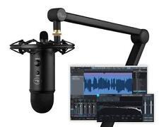 Blue Yeticaster Studio bundled Yeti Blackout+Radius shockmount+Boom Arm+Software