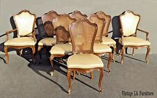 Set of Eight Vintage KARGES French Provincial Style Cane Back Dining Chairs