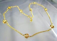 """Vintage AVON Gold Tone Knot Stations Chain 17"""" Necklace #1187"""
