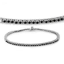 5.00 CT 14K White Gold Round Cut Real Black Diamond Ladies Tennis Bracelet
