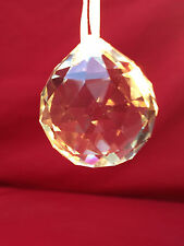 Crystal faceted prism ball sun catcher 4cm 40 mm clear
