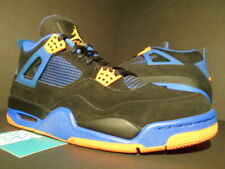NIKE AIR JORDAN IV 4 RETRO BLACK ORANGE BLUE CEMENT CAVS SHOT 308497-027 OG 10.5