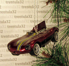 JAGUAR D-TYPE RACE CAR BURGUNDY/BROWN RACING CHRISTMAS TREE ORNAMENT XMAS