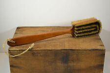 Vintage Long Handle Double Sided Bristle Horse Grooming Brush Wash Care Clean