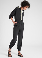 ATHLETA Dipsea Romper Jumpsuit  2 (XS) Black BREATHABLE Hiking Pants $128 NEW