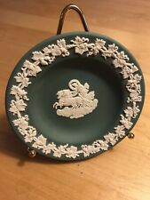 Vintage Wedgwood Sage Green Trinket Pin Dish Decorative Collectible Jasper Ware