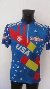 """maillot cycliste"""" team us cycling skittles 92 """" hincapie tro kreiz breizh 1991"""""""