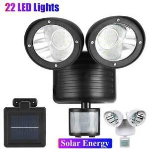22 LED Floodlight Lamp Security Detector Solar Spot Light Motion Sensor Garden