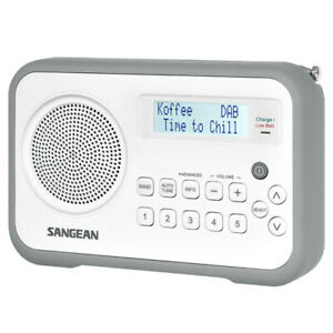 Sangean DPR-67 Portable Digital Radio - White/Grey (REFURB)