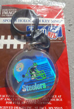 PITTSBURGH STEELERS Key Chain Keychain Ring Hologram Dual Sided Design New