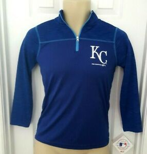 Kansas City Royals Youth Jacket Size Small 6/7 Pullover Cool Base Lightweight