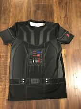 STAR WARS Darth Wader  T-Shirt Size Youth Boys XL Under Armour Tight Fit Euc