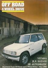 Suzuki Vitara JLX SE Automatic Estate Road Test 1990 UK Market Foldout Brochure