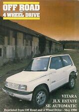 Suzuki Vitara JLX SE Automatic Estate 1990 UK Market Road Test Brochure