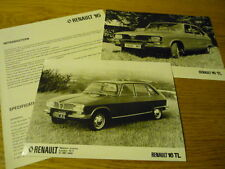 RENAULT 16 PRESS RELEASE & PHOTOS  Brochure Related jm