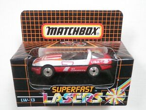 Matchbox Superfast Lasers LW13 1984 Corvette with roof bar, MB69. Laser wheel.