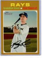 Brandon Lowe 2020 Topps Heritage 5x7 Gold #255 /10 Rays