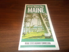 1969 Maine State-issued Vintage Road Map