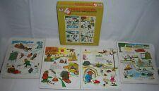 "Richard Scarry vintage 1963 puzzles SEASONS 8x10"" preschool animals extra thick"