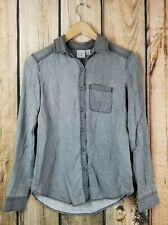 BP Long Sleeve Button Up Collared Chambray Shirt Size XS