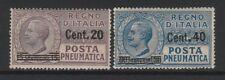 FRANCOBOLLI - 1925 REGNO POSTA PNEUMATICA C.20 SU 15+C.40 SU 30 MNH Z/8448