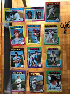 LOTTO 60 CARTE BASEBALL TOPPS 1975-Valori diversi (v.foto)