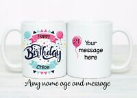 Picture Gift Number Teen Boy Girl Personalised 13th BIRTHDAY Word Cloud Print
