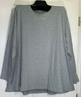 Pure J Jill women Plus size 3XL stretch crew neck 100% Pima cotton Gray New