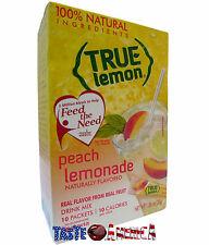 True Lemon Peach Lemonade Drink Mix 10 Stix Pack 30g Box