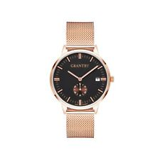 Grantby Mens Womens Minimalist Wrist Watches Leather Milanese Rose Gold Straps