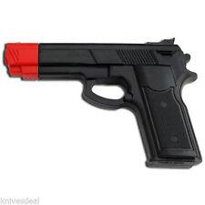 7 Inch Black Rubber Training Gun Police Dummy Non Firing Real Look and Feel Gun