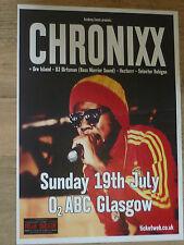 Chronixx - Glasgow july 2015 concert tour gig poster