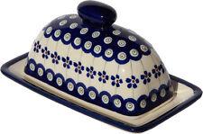 Polish Pottery Butter Dish from Zaklady Boleslawiec Polish 1377-166a