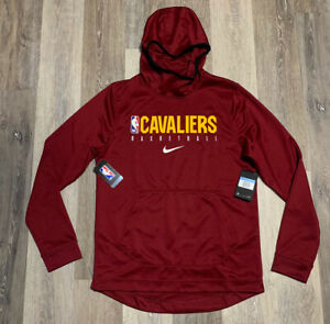 Nike Cleveland Cavaliers Showtime Hoodie Maroon Men's Size Large Team Issued