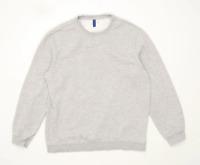 H&M Mens Size L Cotton Blend Grey Sweatshirt
