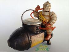 Michelin Man Sat Astride On A Compressor Heavy Cast Iron Pen Holder Pot XMICO