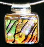 Dichroic Glass Pendant with Sterling Silver NEW (#9)